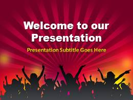 Crowd PowerPoint Template