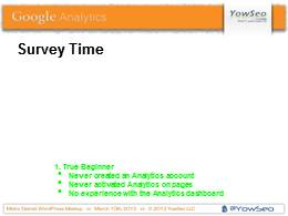 Google Analytics Presentation on 03102013