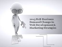 2013 B2B Businesses demand change in Web Development & Marketing Strategies