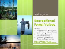 Recreational Forest Values