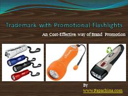 Trademark with Promotional Flashlights