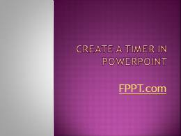 Timer Clock PowerPoint Template