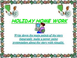 HOLIDAY HOME WORK ANUSHRI.ppt