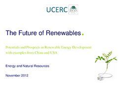 The Future of Renewables